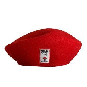 Olivia Gymboree wool red beret hat L large
